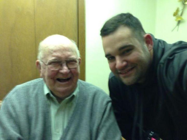 DAD AND HIS OLDEST GRANDSON, COLLIN WILSON - Sharon McDonald-Wilson